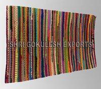 Handmade Indian Designer Cotton Chindi Carpets