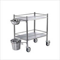 SS Dressing Trolley W-Bowl And Bucket