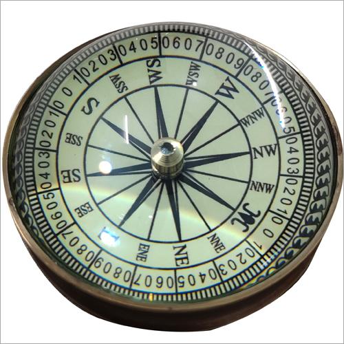 Antique Brass Paper Weight Compass