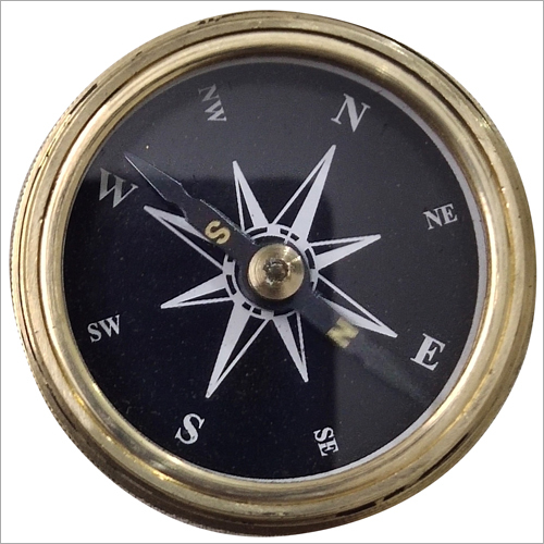 Gold Shine Compass with Poem