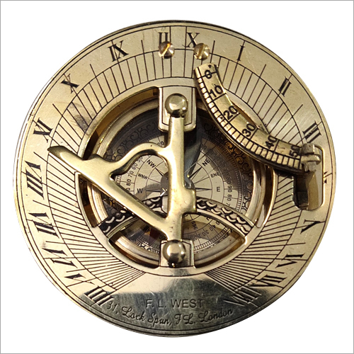 Gold Shine Sundial Compass