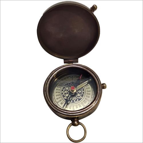 Antique Brass Pocket Compass