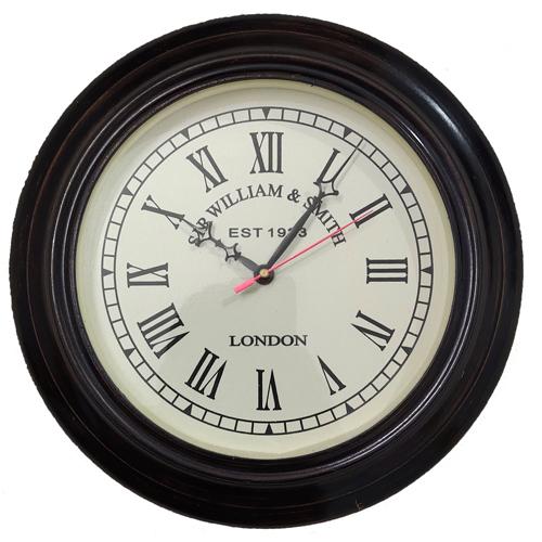Wooden Base Back Vintage Wall Clock