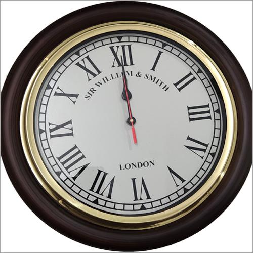Wooden Base Big Vintage Wall Clock