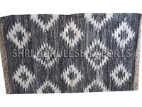 Indian Handwoven 100% Pure Cotton Rag Rug