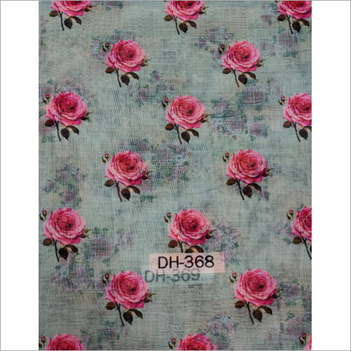 100 Percent Linen Digital Printed Fabric
