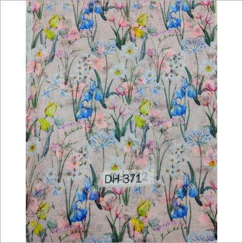 Muslin Cotton Digital Printed Fabric