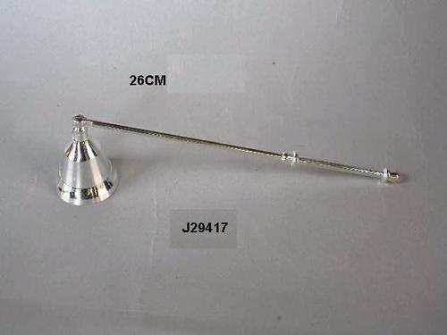 Brass Candle Snuffer With Silver Plated