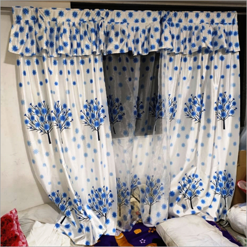 Long Crush curtain with net