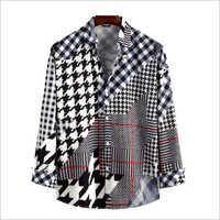 Ptinted Dull Satin Shirt Fabric