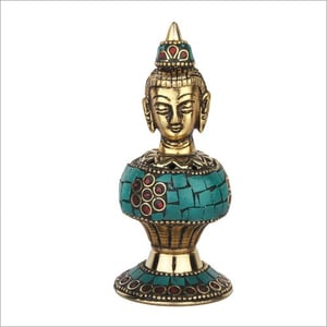 Brass And Stone Work Incense Stand
