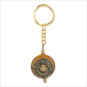 Handcrafted With Stone Work Acrylic Keychain