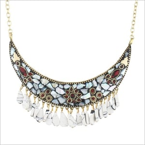 Handmade Stone Work Necklace