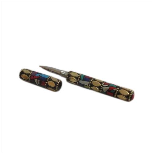 Metal Stone Work Decorative Pen