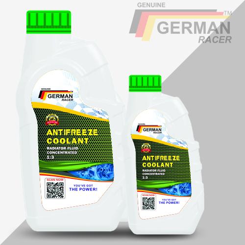 German Racer Long Life Antifreeze Coolant For Passenger Cars & Light Trucks
