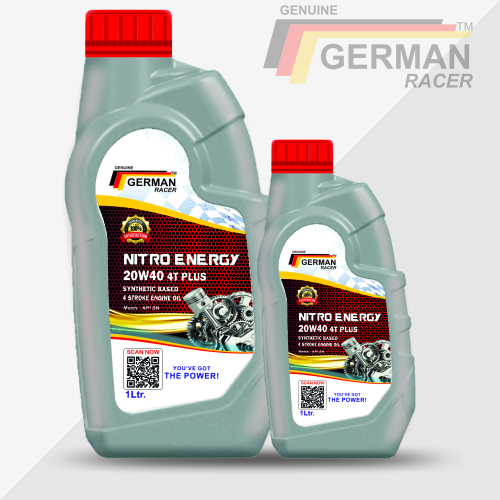 German Racer Nitro Energy 20w40 Motorcycle Engine Oil High Performance