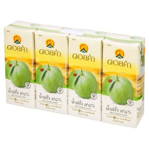 Doi Kham Guava Juice 98% 200 ml. X 4 boxes