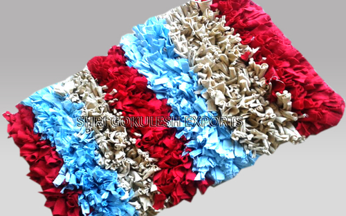 Hot Selling Indian 100% Pure Cotton Shaggy Carpets