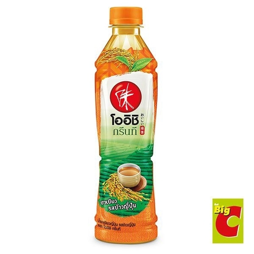 Oishi Green Tea, Japanese Green Tea Japanese rice flavor 380 ml.