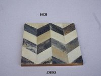 Bone Inlay coasters  Chevron patterns