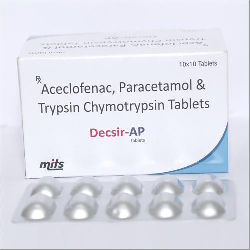 Aceclofenac , Paracetamol & Trypsin Chymotrypsin Tablets