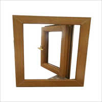 Brown UPVC Casement Window