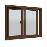 Walnut Colour Sliding UPVC Window