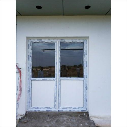 White Customized Upvc Casement Door