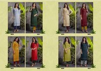 Raj-shree Pure Rayon 14 Kg With Hand Work Kurtis With Pant