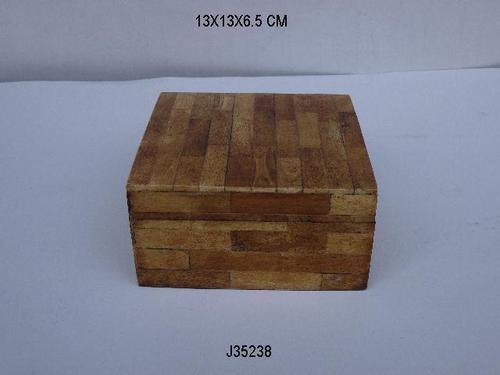 Bone Inlay Jewelry Box With Antique Finish