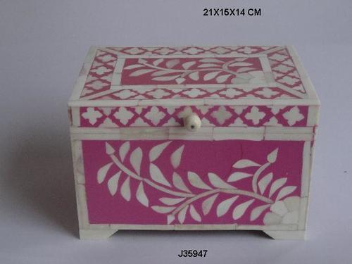 Bone Inlay Jewelry Box