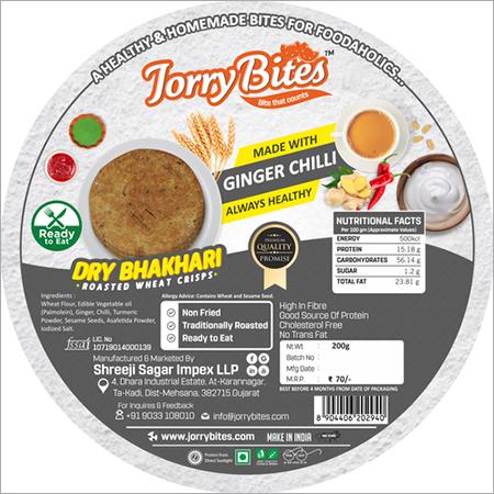 Ginger Chilli Dry Bhakhari