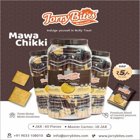 Mawa Chikki Jar Packaging