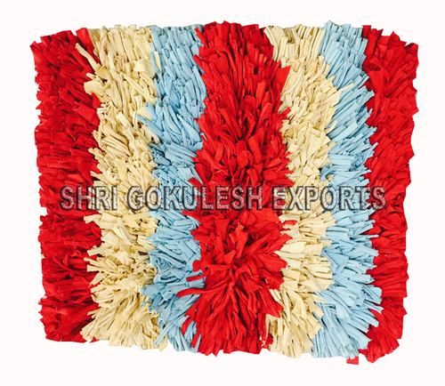 Designer Handmade Indian Pure Cotton Shaggy Rugs