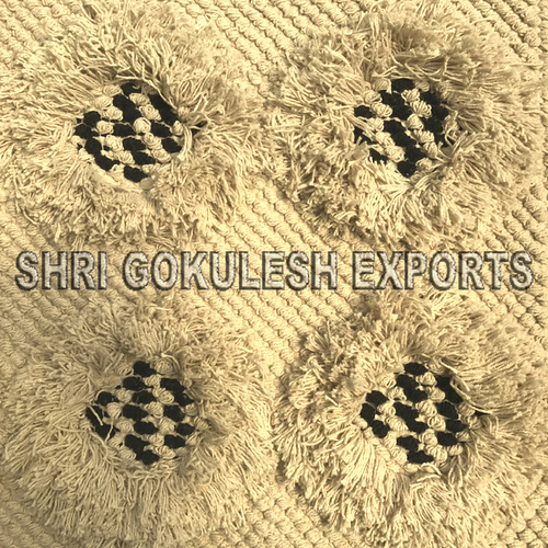 Hot Selling Rectangular Shape Indian Cotton Shaggy Carpets