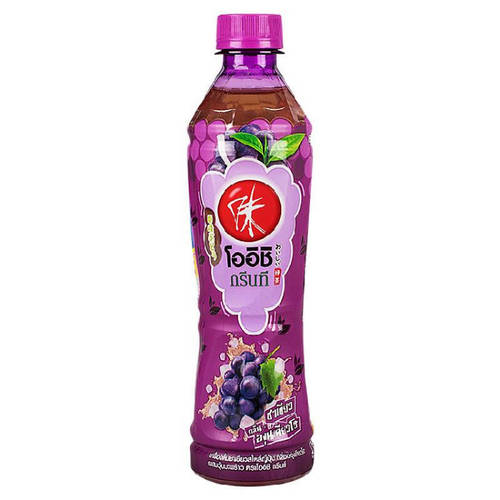 Oishi Green Tea, Japanese green tea drink Kyoho grape flavor Mixed with coconut jelly 380 grams