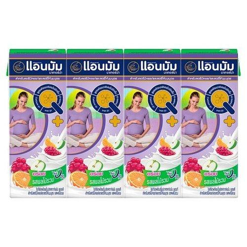 180ml X 4pcs Annmamaterna Uht Yogurt Mixed Fruit Flavor