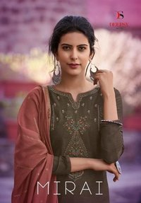 Deepsy Suits Mirai Mulberry Silk With Self Embroidery Work Salwar Suit Catalog