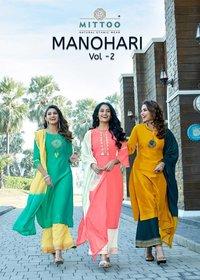 Manohari Vol 2 Banarasi Viscose With Inner With Bottoam Dupatta