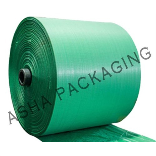 PP Green Color Woven Sack Roll