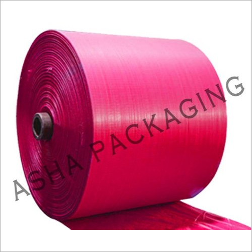 PP Pink Color Woven Sack Roll