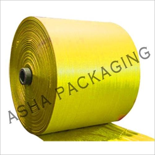 Plain PP Yellow Woven Sack Roll