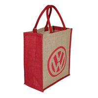 PP Laminated Jute Tote Bag With Padded Rope Handle
