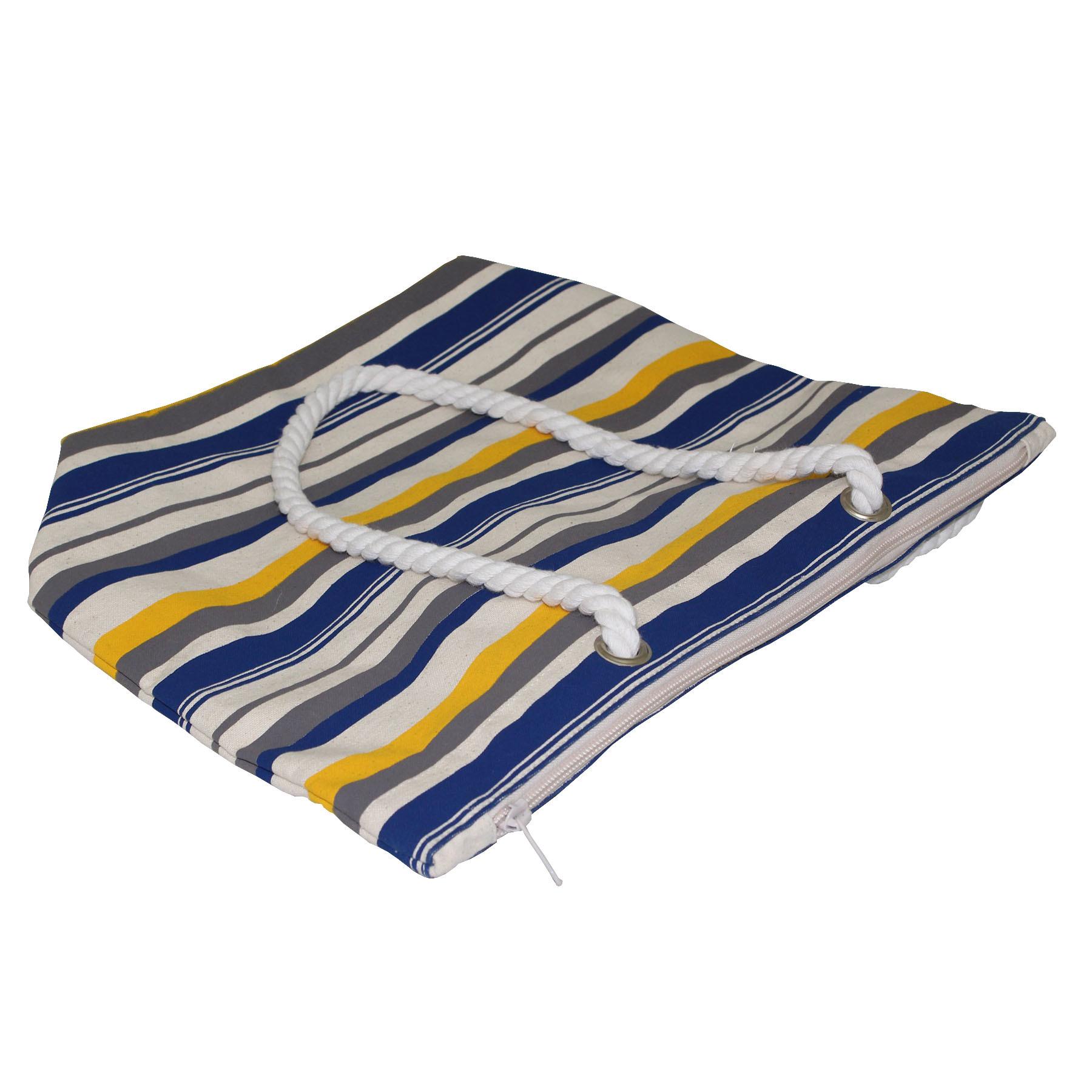 12 Oz Natural Canvas Tote Bag With Zip Closure