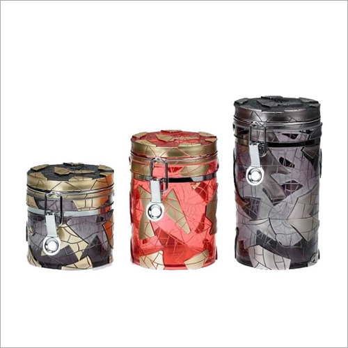 Designer Canister Glass Jars