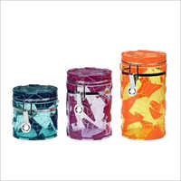 Fancy Canister Glass Jars