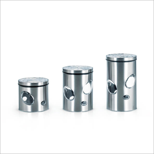 DY-62-H Steel Canister Glass Jars