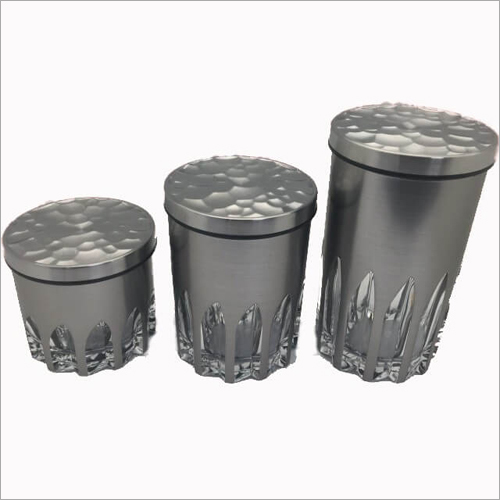 DY-100 SS Canister Glass Jars
