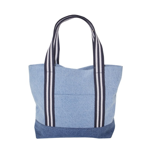 12 Oz Denim Tote Bag With Lining & Web Handle