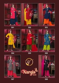 Nargis Vol-3 Rayon Kurti Plazo With Dupatta